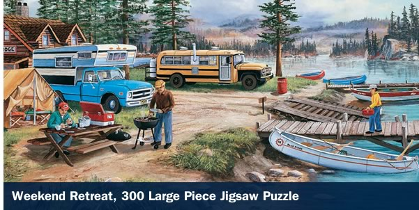 Weekend Retreat 300 Large Piece Jigsaw Puzzle