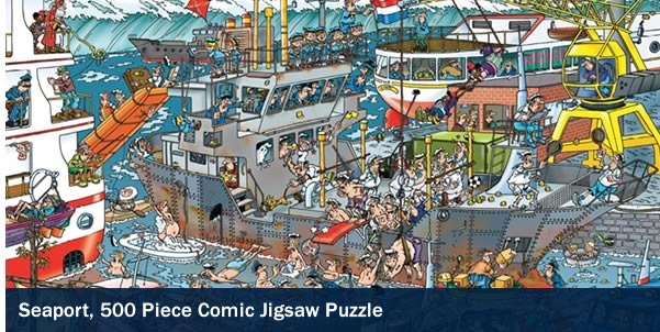 Seaport 500 Piece Jigsaw Puzzle