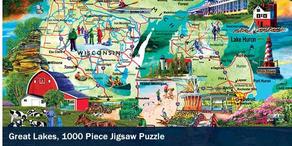 Great Lakes 1000 Piece Jigsaw Puzzle