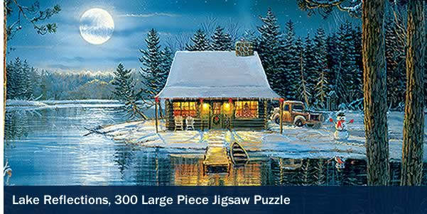 Lake Reflections 300 Large Piece Jigsaw Puzzle