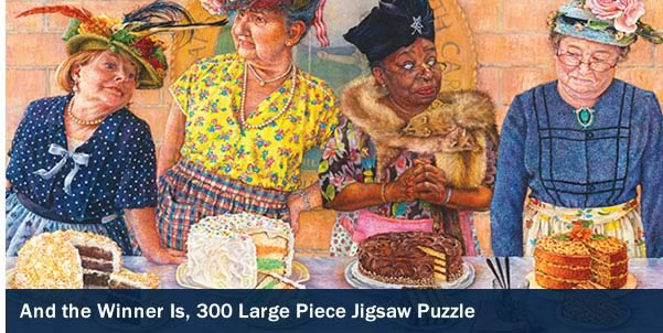 And the Winner Is 300 Large Piece Jigsaw Puzzle