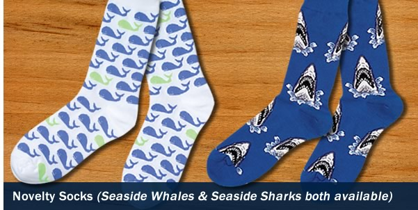 Novelty Seaside Whales Socks
