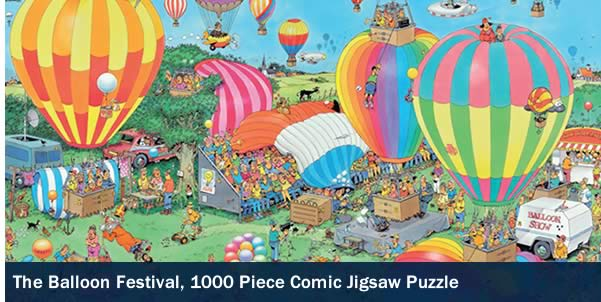 The Balloon Festival 1000 Piece Jigsaw Puzzle