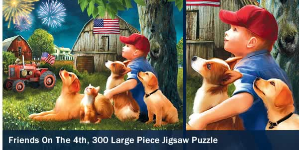 Friends on the 4th 300 Large Piece Jigsaw Puzzle