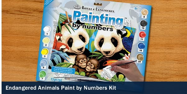 Endangered Animals - Paint by Numbers Kits