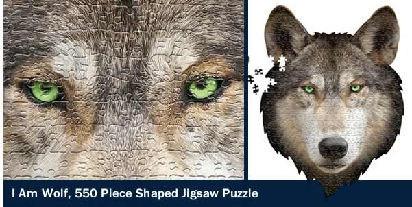 I AM WOLF 550 PIECE SHAPED JIGSAW PUZZLE