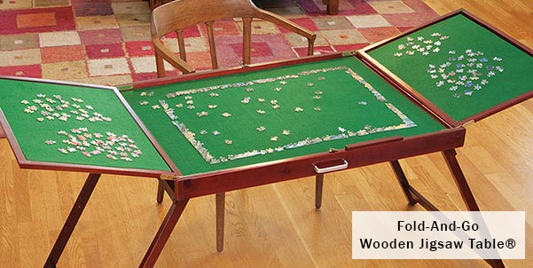 Fold-And-Go Wooden Jigsaw Table